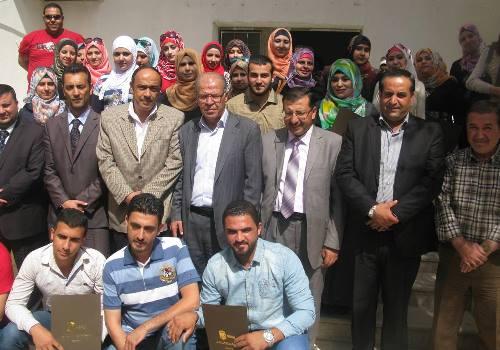 رئيس الغرفة يشارك في تخريج دورة تدريبية لهيئة شباب كلنا الأردن في الزرقاء