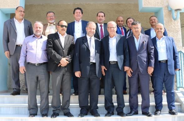 مجلس إدارة غرفة تجارة الزرقاء يزور بلدية الزرقاء ويهنئ رئيس وأعضاء المجلس البلدي